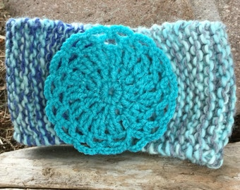 Kids' Headband, with turquoise flower