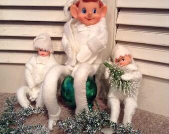 Vintage Pixie Elves - Vintage Elf