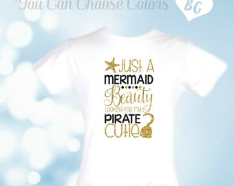 Mermaid Pirate Party-Shirt-Pirate Party-Beach Themed