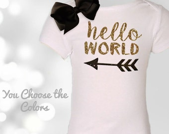 Newborn Baby Outfit-Hello World-Baby Outfit-Coming Home