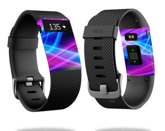 Skin Decal Wrap for Fitbit Blaze, Charge, Charge HR, Surge Watch cover sticker Light Waves