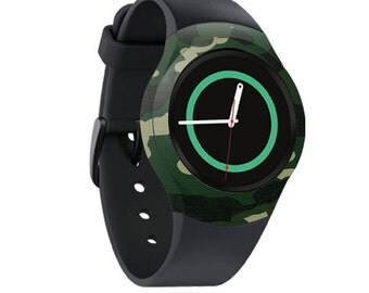 Skin Decal Wrap for Samsung Gear S2, S2 3G, Live, Neo S Smart Watch, Galaxy Gear Fit cover sticker Green Camo
