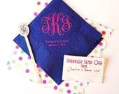monogram cocktail napkins, reception napkins, wedding napkins, monogrammed napkins, script monogram, wedding reception napkins