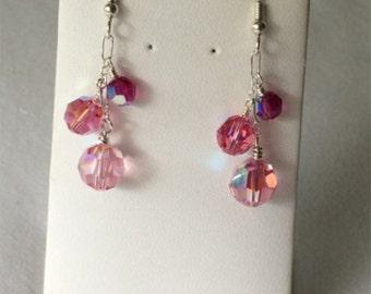 3 stone drop Earrings