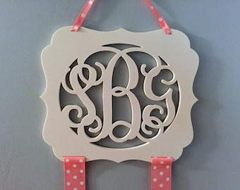 Large Monogram Hair Bow Holder