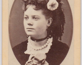 Antique CDV Photograph - Miss Emma, died.