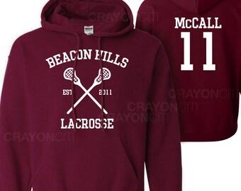 Teen Wolf Beacon Hills Lacrosse Hoodie McCall 11 Hoodie