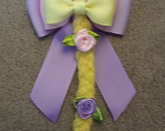 PREORDER Hand made disney tangled, rapunzel character inspired hair bow