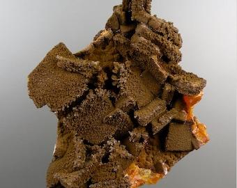 Rocks and Minerals Wulfenite with Endlichite