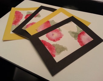 Black & Yellow Poppy Cards