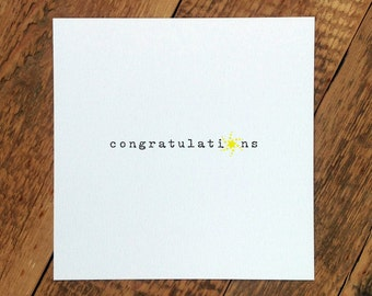 Well Done Card; 'Congratulations' (GC368)