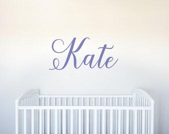 Name - Vinyl Decal Wall Art Decor for Nursery Children Girls Babies Room