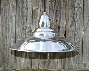 Cool retro styled polished ceiling light shade pendant lamp factory industrial HSL1