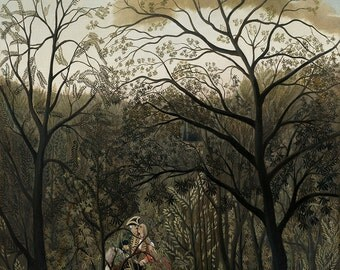 Henri Rousseau: Rendezvous in the Forest. Fine Art Print/Poster. (003547)