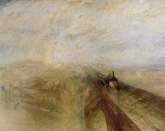 William Turner: Rain Steam and Speed, The Great Western Railway. Fine Art Print/Poster. (003576)