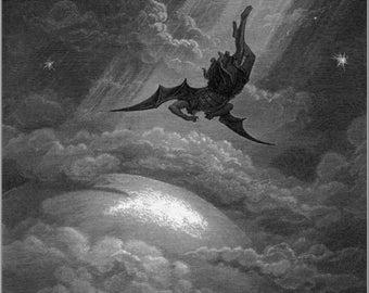 Gustave Dore: Satan in Paradise Lost. Fine Art Print/Poster. (001836)