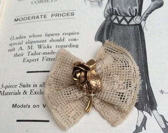 Vintage upcycled brooch