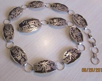 Sterling Silver Handmade Link Concho Belt