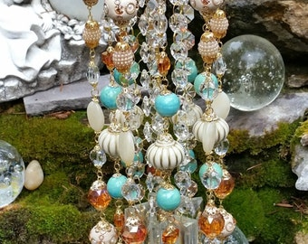 Mint & Cream Crystal Wind Chime