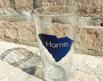 HOME state outline pint glass