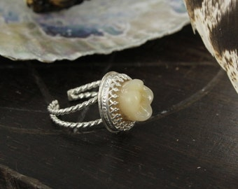 Teeth ring - Resin teeth - Anatony ring -  Prosthesis teeth - Handmade
