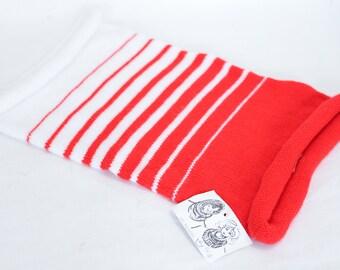 Vintage Loop hooded scarve neckwarmer Wool knit endless scarf winter circle scarf nautical