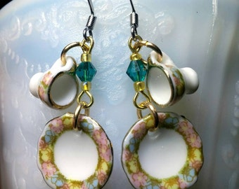 Teacup and Saucer earrings!