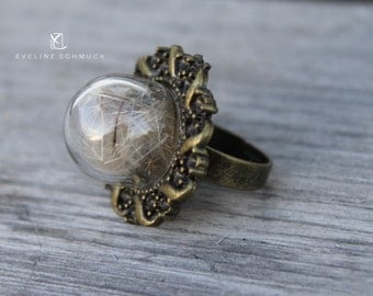 Dandelion Ring with real Dandelions