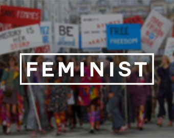 Feminist Vinyl Window Decal