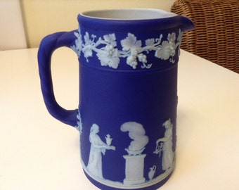 Wedgewood Jasperware Medium Jug Wedgewood Blue Muses