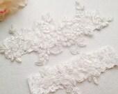 Wedding Garter , bridal garter, off white Lace Garter, A03#