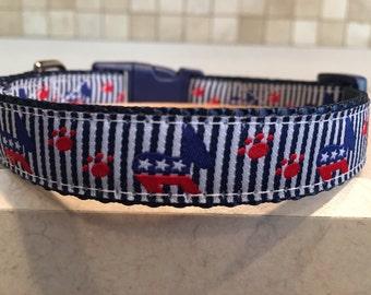 Democrat Small and Medium Dog Collar
