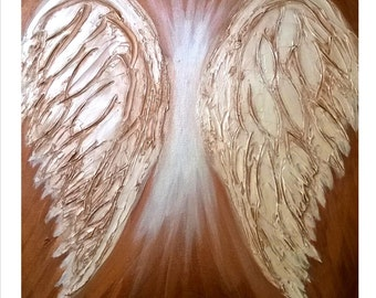 Cooper Wings Textured Art Painting