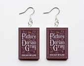 The Picture of Dorian Gray mini book earrings
