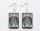 Alice in Wonderland mini book earrings