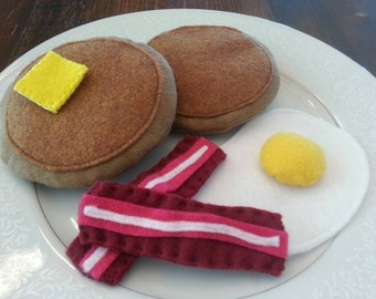 Felt food breakfast set - 6 pieces, ready to ship