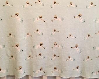 angel baby blanket in mint//organic cotton angel baby blanket