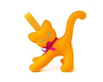 Felt Kitten Keychain, Keyring, Bag Tag, Charm
