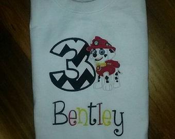 Paw patrol birthday shirt, personalized, paw patrol any pup