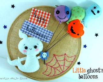 Little ghost's balloons. Halloween. Decoration. Dreamgarden Collection