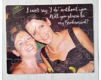 Personalised Bridesmaid proposal/ Maid of Honour photograph jigsaw puzzle
