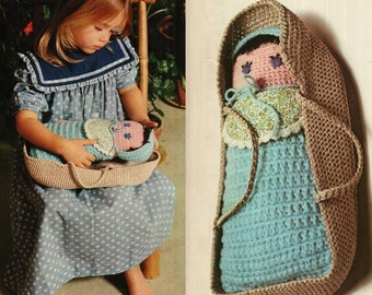Crochet Baby Doll Pattern Vintage 70s Crochet Doll Pattern Crochet Toy Pattern Crochet baby toy pattern