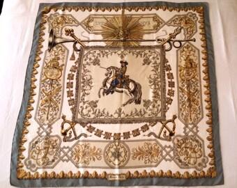 """Hermes Paris silk scarf """"Ludovicus Magnus"""" 1963, designed by Francoise de la Perriere"""