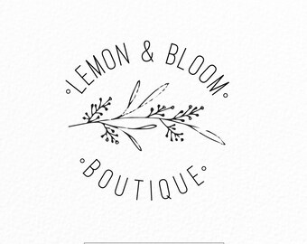 Premade Logo Design | Vintage Logo Design | Wedding Logo | Florist Logo | Rustic Logo | Floral Logo | Branding | Bakery Logo | Photography