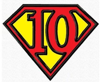Super Hero No. 10...3 Sizes...Applique Machine Embroidery DESIGN NO. 714