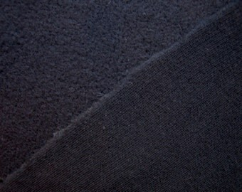 Organic Sweatshirt Fleece Fabric Super Soft Black By The Yard