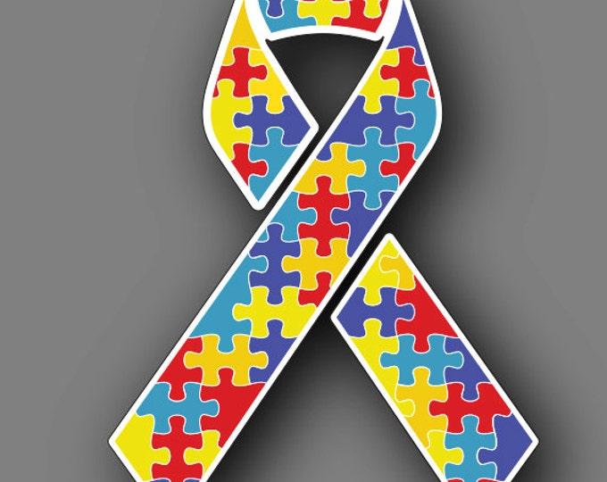 Autism Awareness Ribbon Car Truck Vinyl Decal Sticker