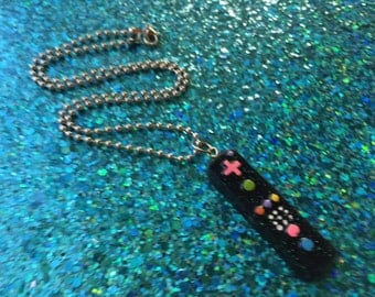 Gamer Necklace - Game Controller Resin Pendant Necklace