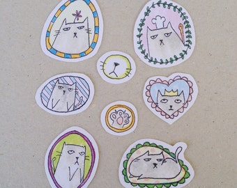 Grumpy Cat Stickers/ Cat stickers