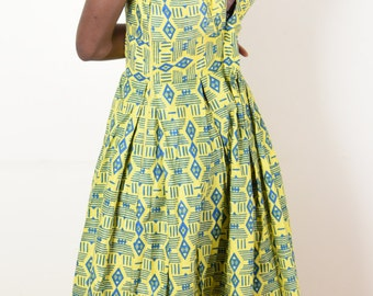 ANGUISSA MAXI DRESS - African Print Handmade Dress